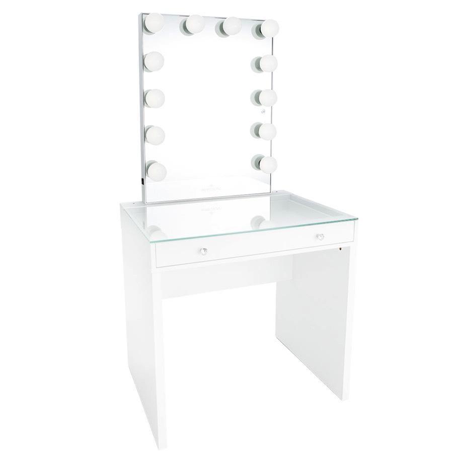 Slaystation Mini Table Glow Xl Vanity Mirror Bundle Vanity Mirror Mirrored Vanity Table