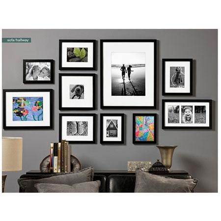 Prinz Gallery Expressions Wood Frame 11x14 Matted To 8x10 Photograph Color Black Home Decor Frame Wall Collage Interior