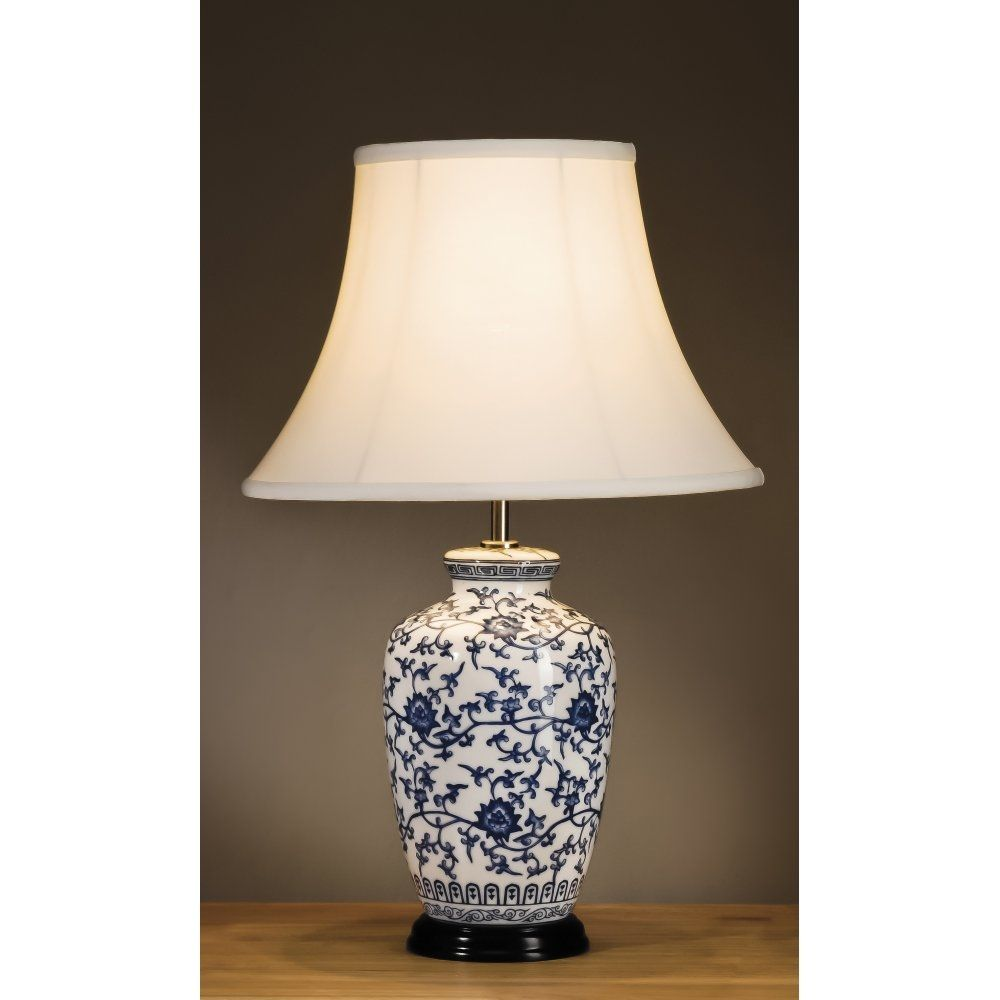 Blue asian style lamps