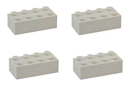 Lego Parts: Brick 2 x 4 (PACK of 4 - White)
