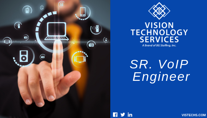 Are You Self Motivated With A Strong It Background Vtsjobs Is Hiring A Senior Voipengineer In The Suburbs Of New Service Jobs Information Technology Voip