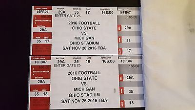 Tickets Ohio State Buckeyes Football Vs Michigan Wolverines Tickets