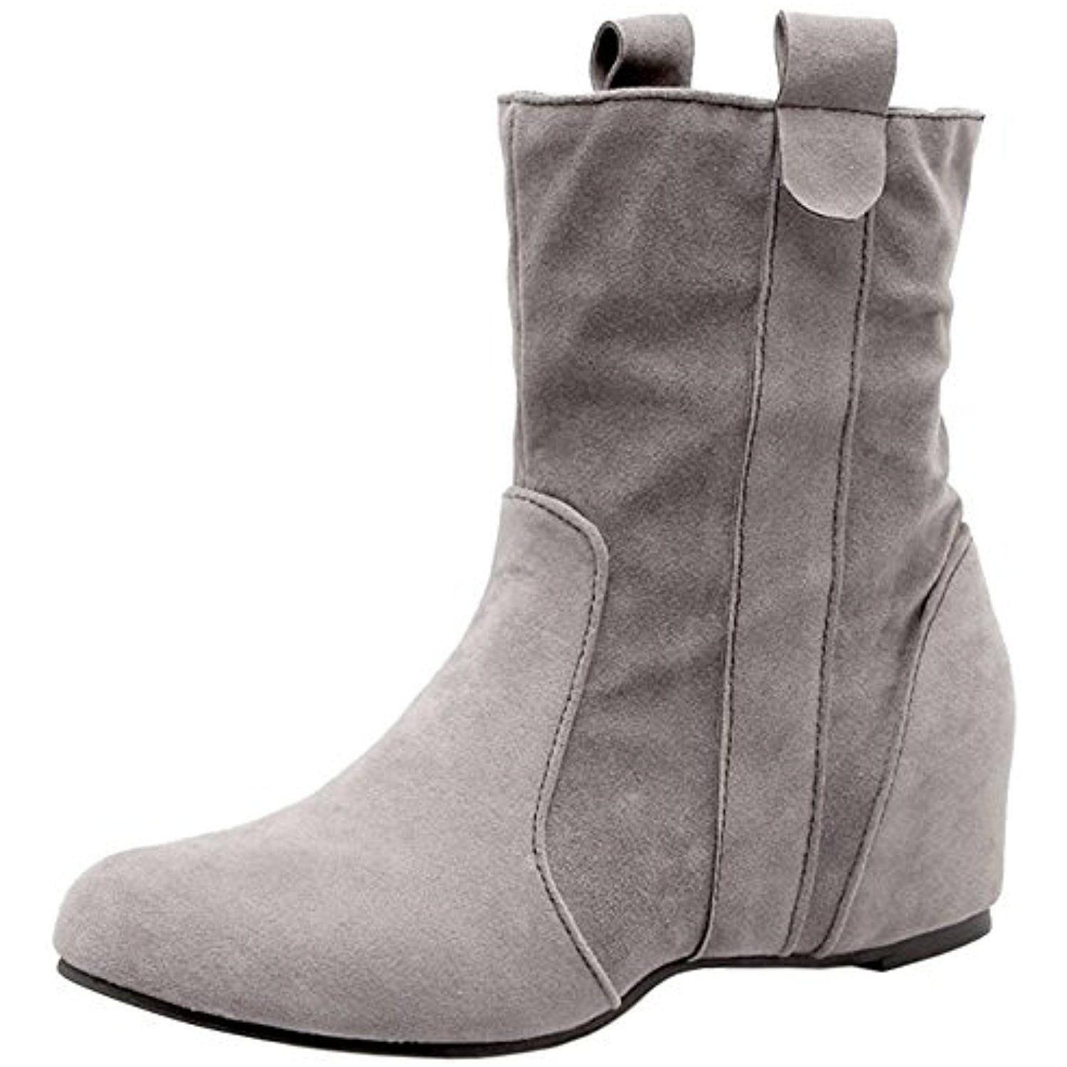 Women height Increasing Boots Pull On