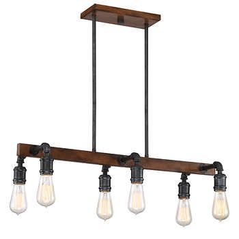 6 light led chandelier by dsi 1 24 17 100 at costco