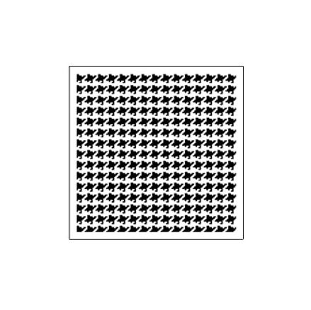 The Crafter's Workshop - 6 x 6 Doodling Templates - Mini Houndstooth at Scrapbook.com