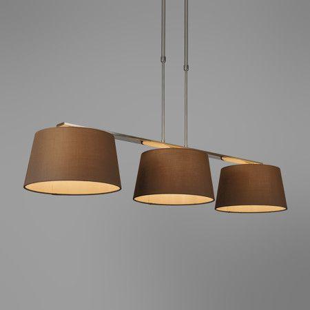 Pendelleuchte Combi Delux 3 Schirm Rund 30cm Braun Lampe Esstischlamme Wohnzimmerlampe