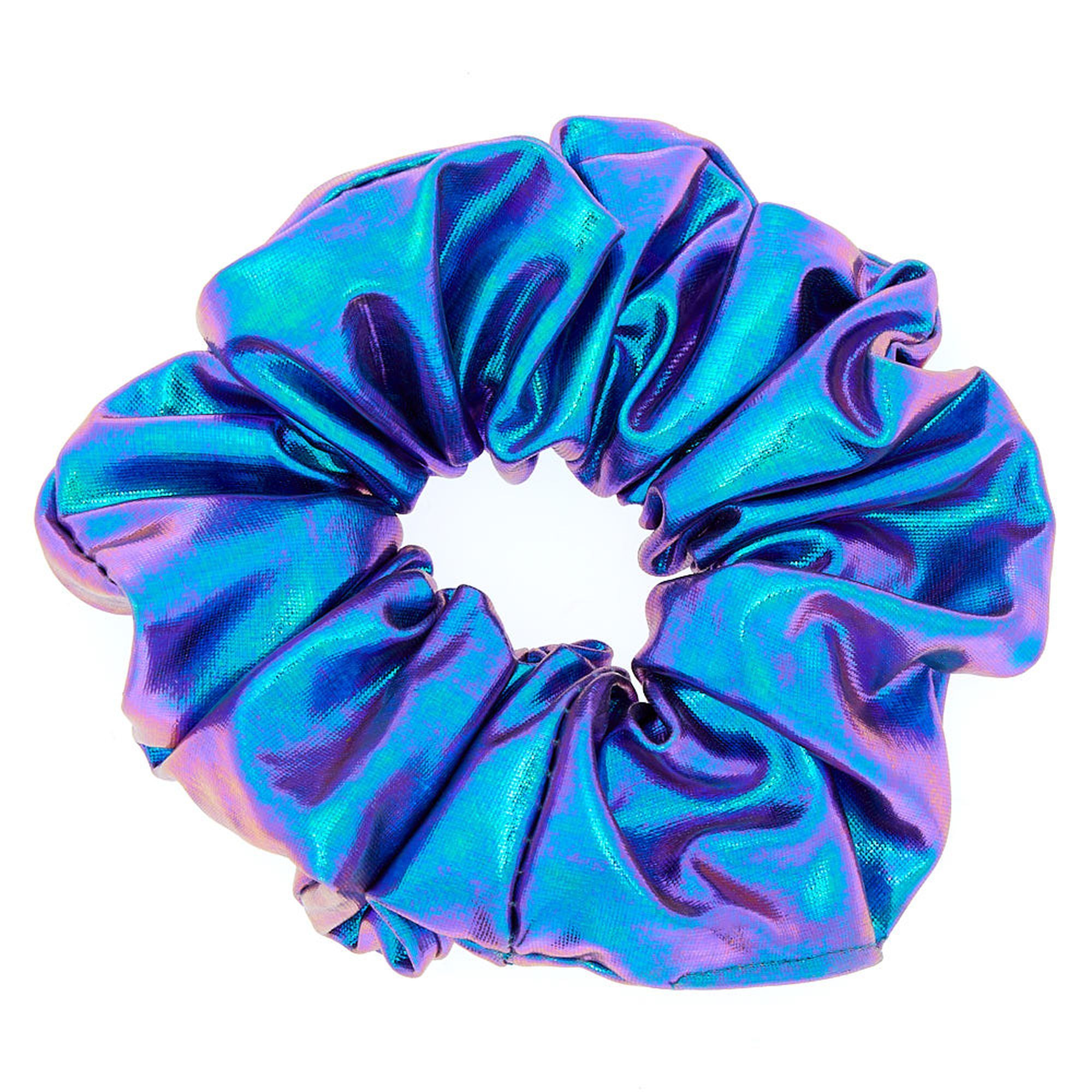 Medium Metallic Mermaid Hair Scrunchie - Purple
