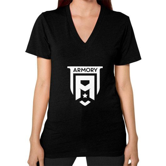 Armory Crest V-Neck (on woman) Shirt
