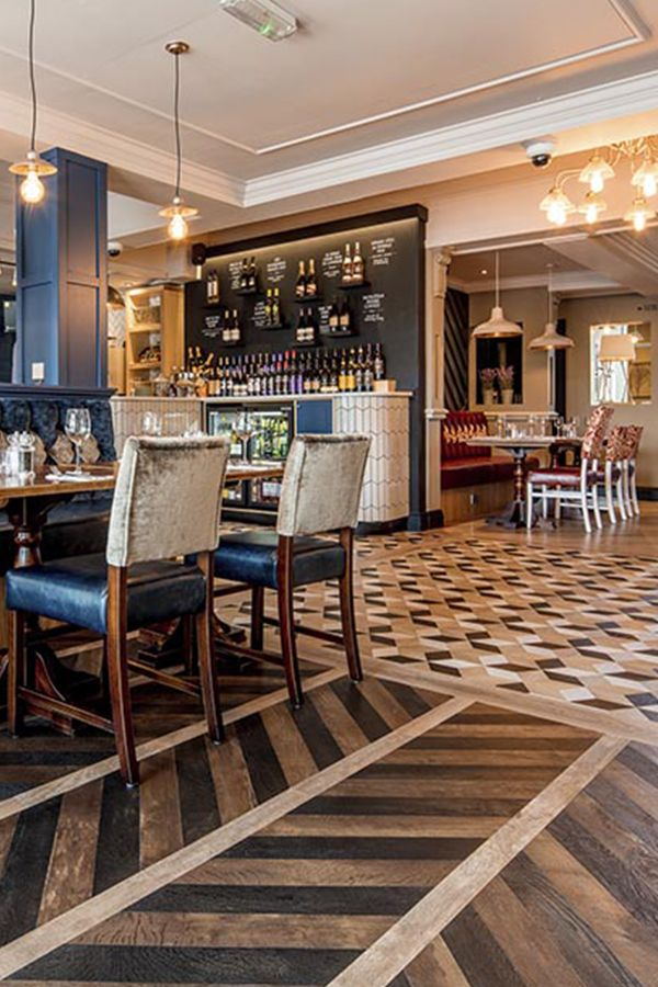 The flooring in Chorley's Greene King restaurant is made