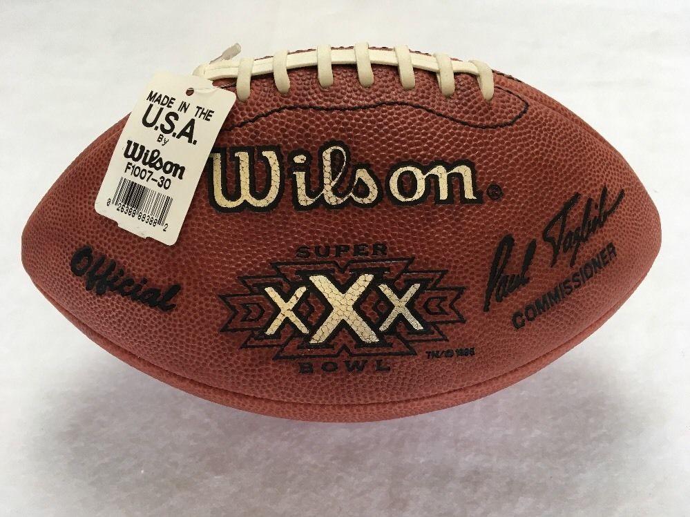 Super Bowl 30 XXX Wilson Official NFL Game Football Dallas Cowboys vs. Steelers #Wilson