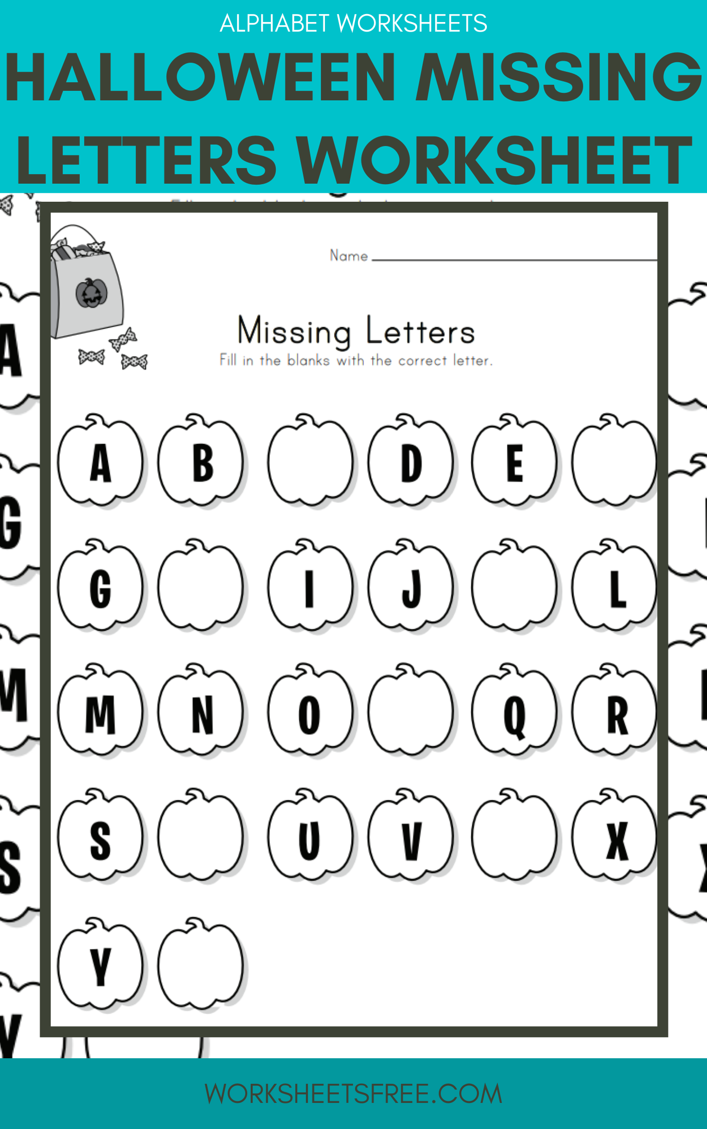 7 Missing Letters Worksheets