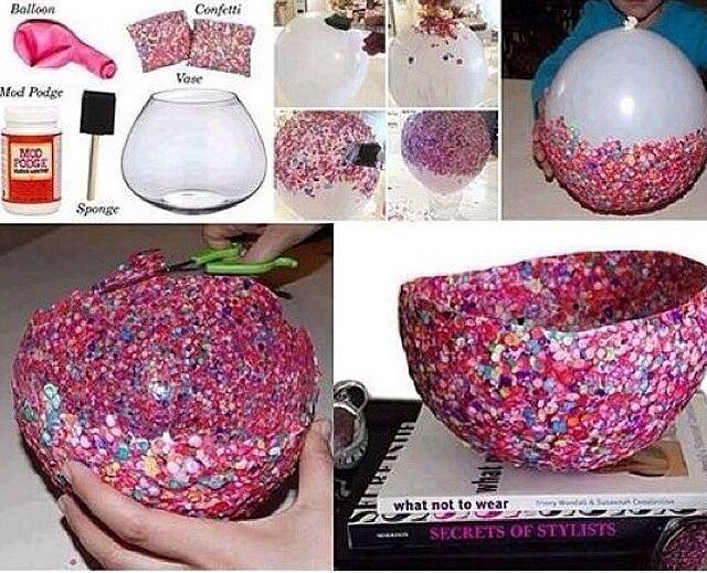 DIY Glitter bowl ✨