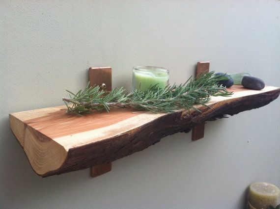 Juniper and Copper Wall Shelf. 18 long. by TheTreeLinedHome, $45.00