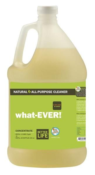 This CONCENTRATE makes twenty 32 oz bottles of All-Purpose Cleaner. Our natural all-purpose cleaner packs a punch, outperforming cleaners that sting. Simply spray, wipe, and watch as it tackles scuff marks on the wall, spilled juice on the floor, peanut butter on the counter, bacon grease on the stove, toothpaste on the vanity, or coffee spills on the couch.