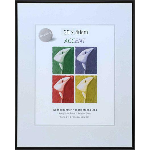 Cadre Aluminium Nielsen Accent 40 X 50 Cm Noir Cadre Aluminium Cadre