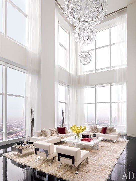 Manhattan Penthouse Living Room Fanoos Pinterest 거실 집 And