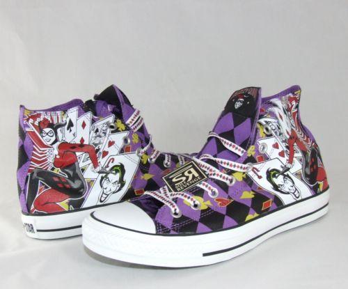 Converse Femme Chaussures Noir All Star Catoons Comics Haute
