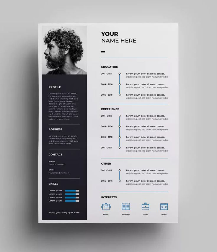 Resume Design Templates AI EPS A4 paper size. Download #resume #resumeexamples #...
