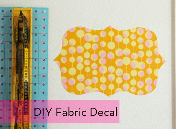 How to: Make DIY Temporary Fabric Wall Decals | Wall decals, Fabrics ...