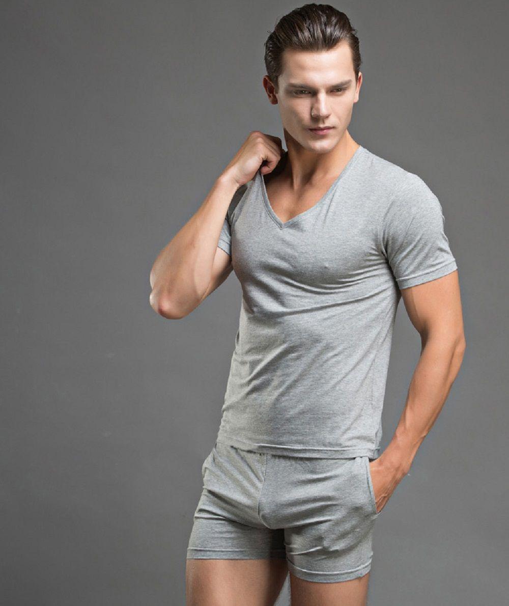 6bd98460e2b774 JeVenis Men s Summer Comfort Sleepwear Short Sleeve Pajamas Tracksuit Set  Shorts and Top Set