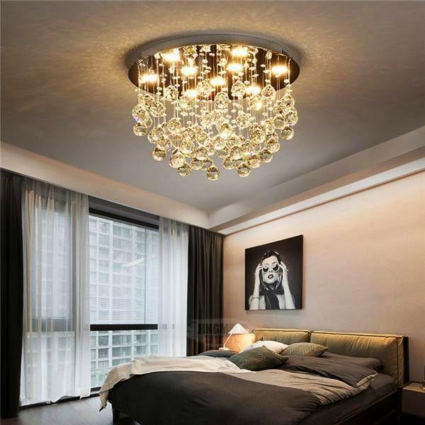 Modern Led Crystal Ceiling Light Cl188 Crystal Ceiling Light Ceiling Lights Master Bedroom Lighting