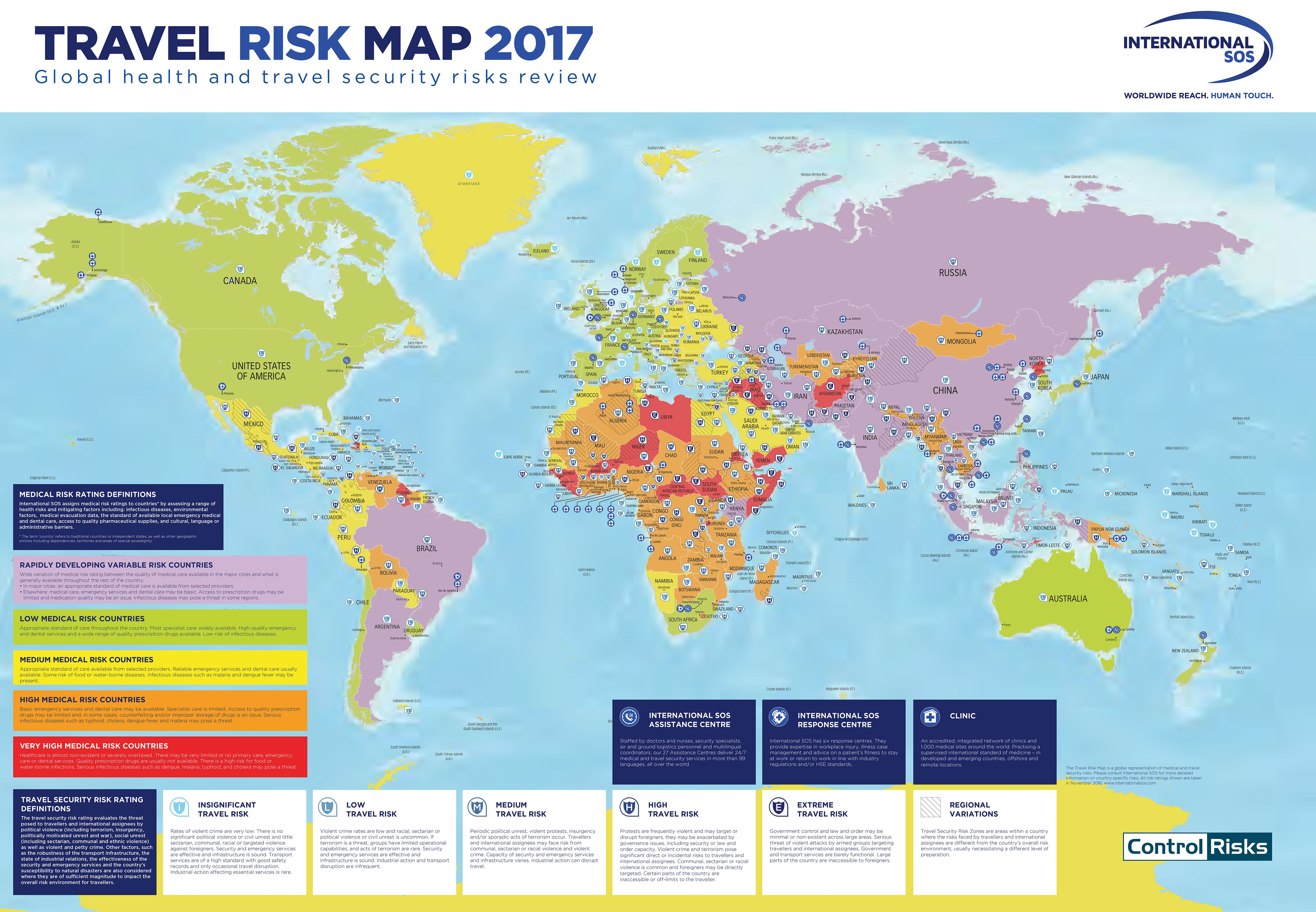 World travel risk map 2017 which countries are safedangerous explore world maps geography and more gumiabroncs Choice Image