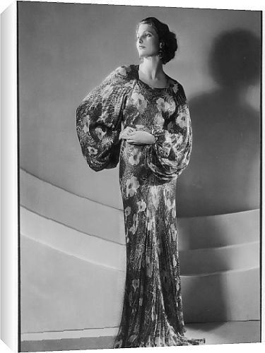 Canvas Prints of Floral Evening Gown from Mary Evans