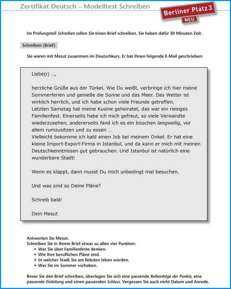 Formal Brief Schreiben B1 In 2020 Briefe Schreiben Schreiben Brief