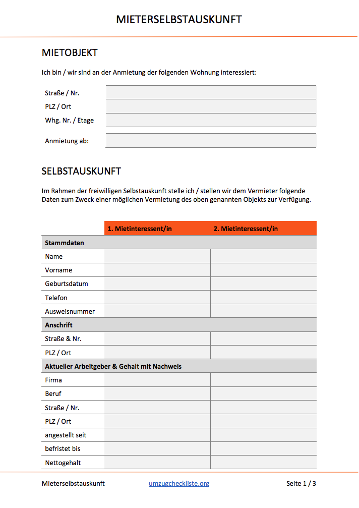 Lade Dir Jetzt Unsere Mieterselbstauskunft Als Pdf Und Word Dokument Doc Und Glanze Bei Der Wohnungsbesichtigung Wohnungsbesichtigung Vorlagen Vermietung
