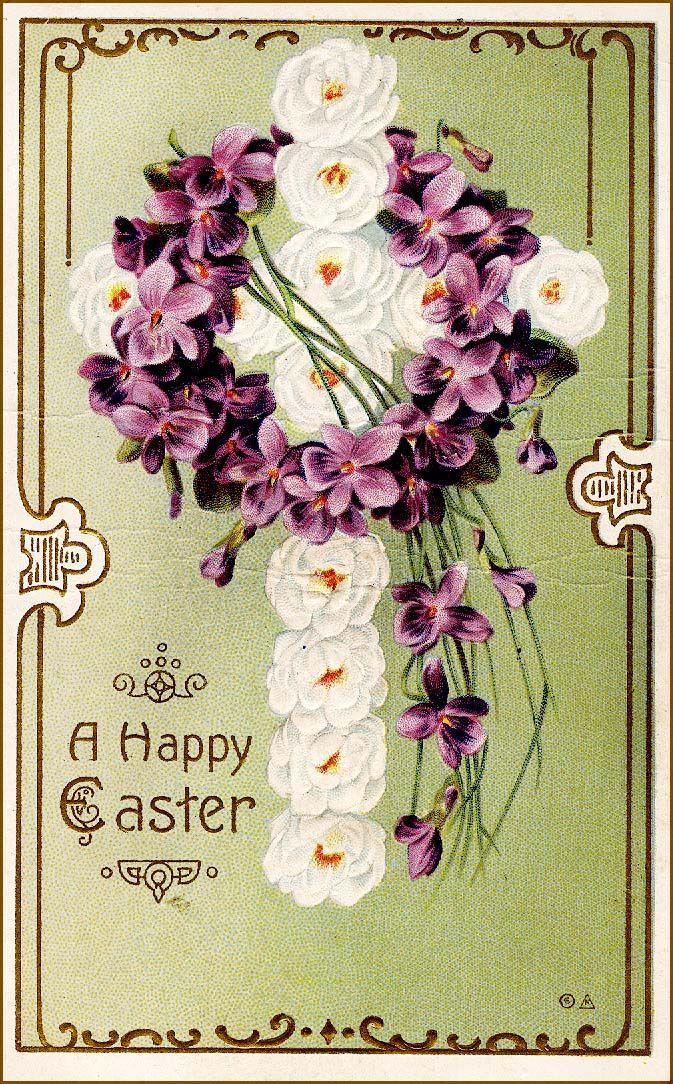 #vintage #antique #ephemera #cross #floral