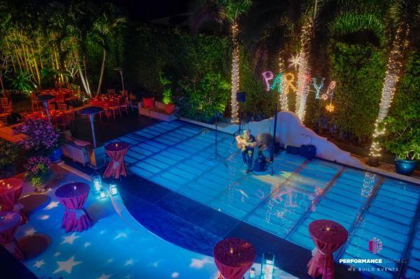Custom Pool Cover Dance Floor Rental Pool Cover Dance