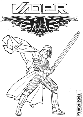 Beautiful Star Wars   Darth Vader   Coloring Page