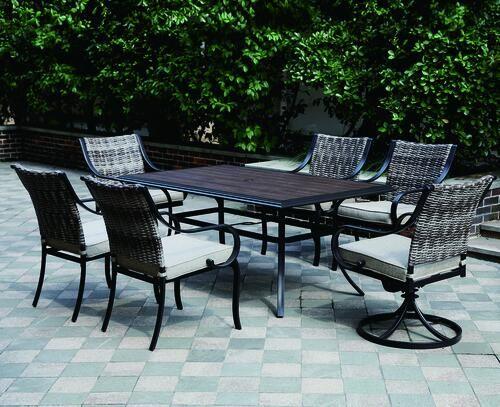 Backyard Creations® Vanderbuilt Collection 7-Piece Dining ...