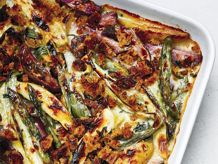 This asparagus onion and potato gratin makes a great vegetarian recipes forumfinder Images