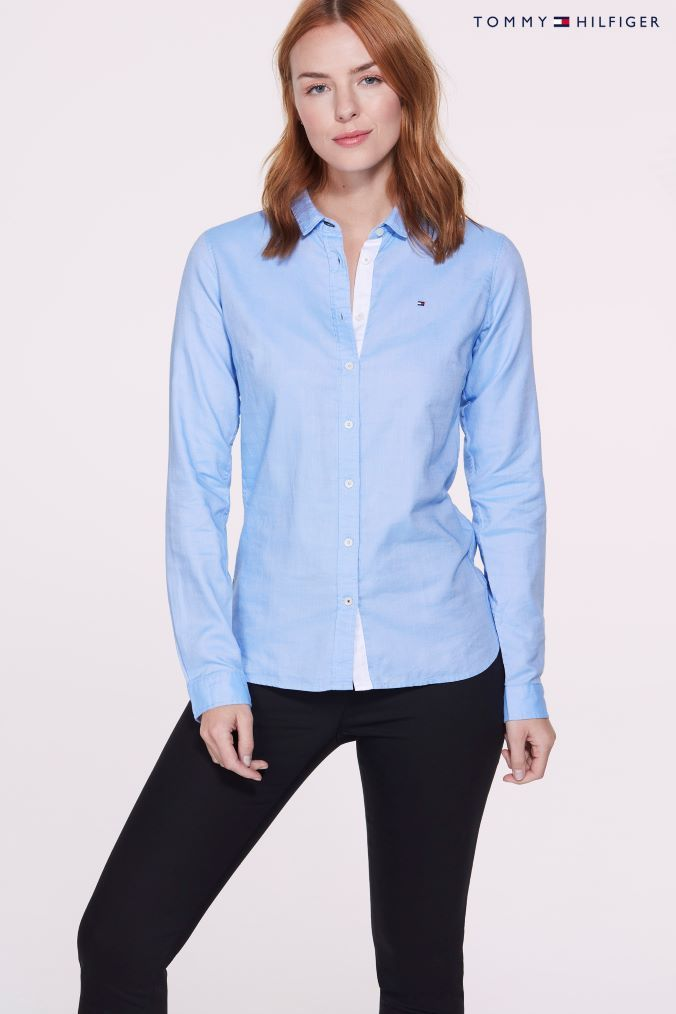 b59c9cd1 Womens Tommy Hilfiger Blue Jenna Shirt - Blue | Products | Tommy ...