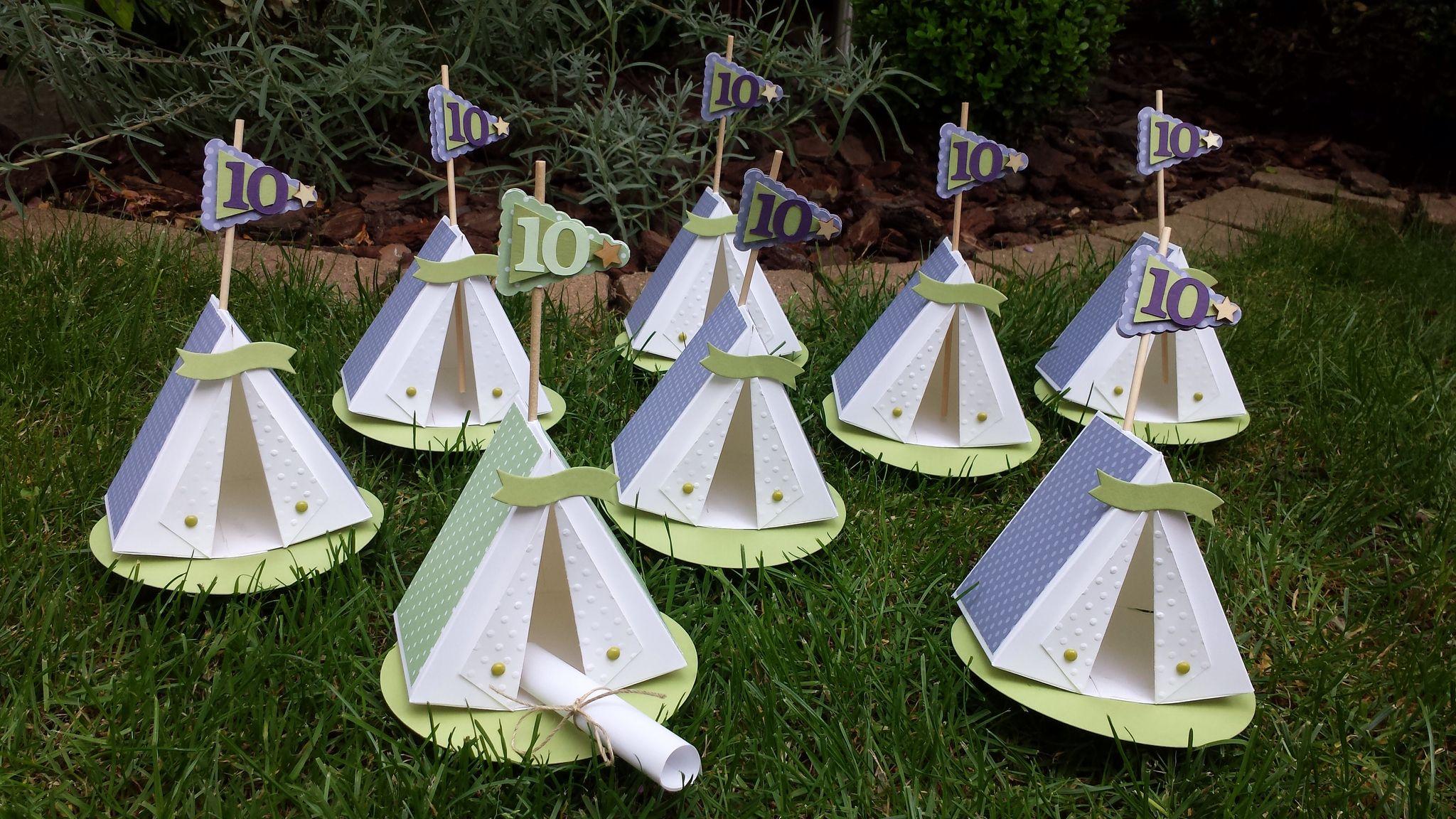 Kindergeburtstag, Einladung Zum Zelten
