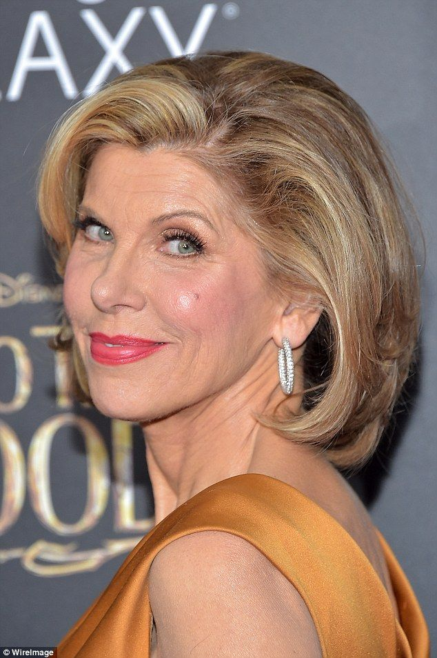 Natural beauty: The Good Wife star wore her highlighted blonde hair in its signature sleek...