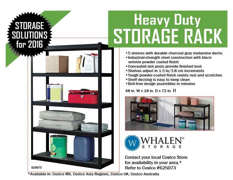 heavy duty storage rack 48 w x 18 d
