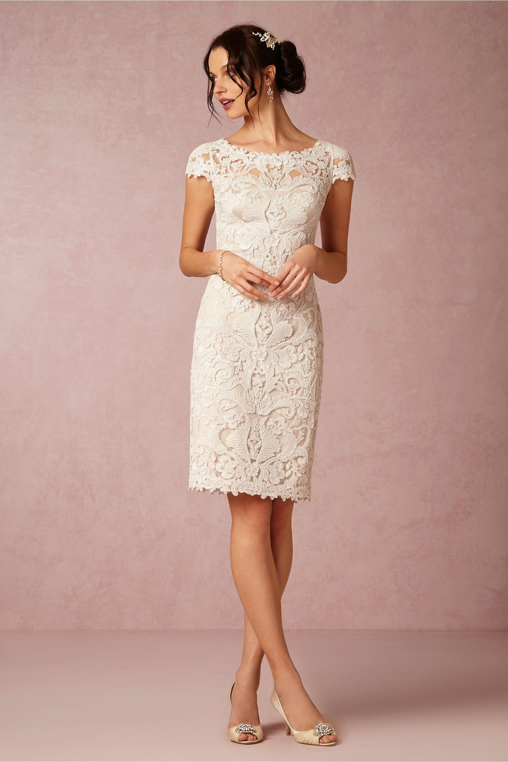 Hadley Dress In New At Bhldn Simple Wedding Dress Short Bride Reception Dresses Lace Dress