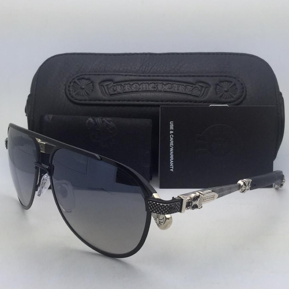 9a44b9f7559 Chrome Hearts CHROME HEARTS Sunglasses BLADE HUMMER II Black-Damascus Steel  Aviator