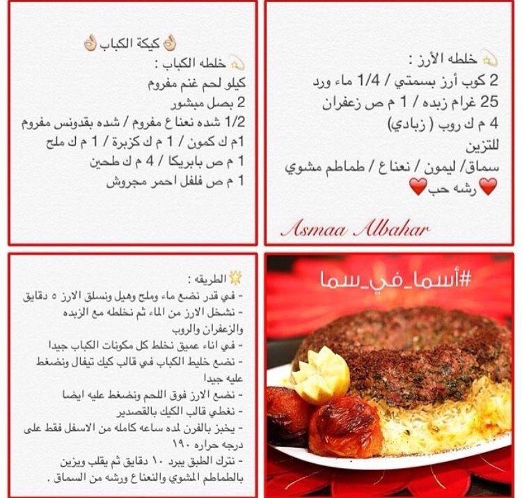 كيكة الكباب Recipes Egyptian Food Food