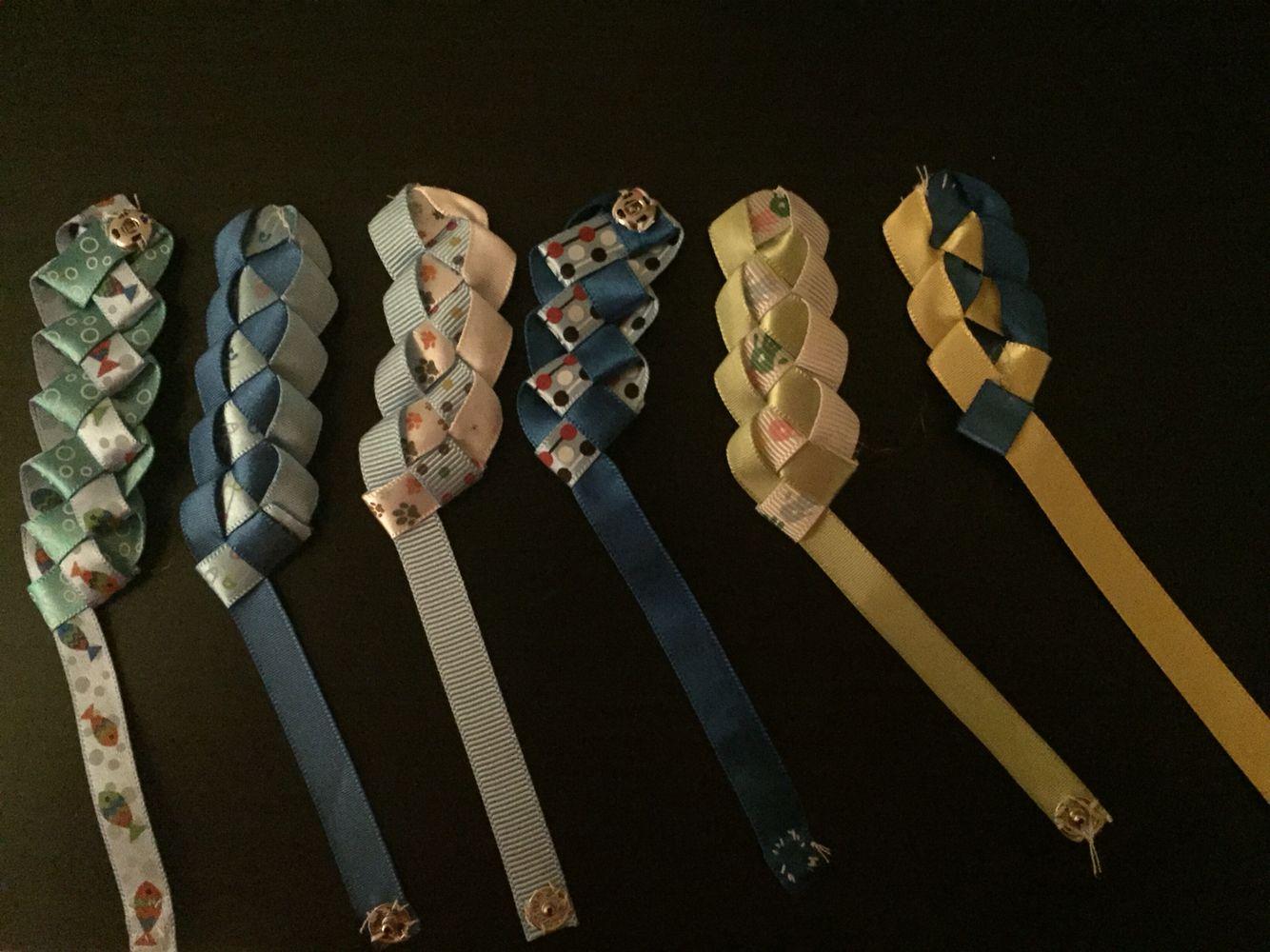 Ribbon Weave Reversible Bracelets