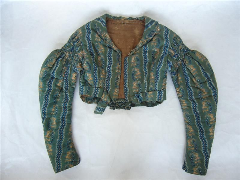 Spencer: ca early 1800's, from Vogtland, cotton, wool, linen.