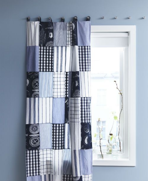Create A One Of A Kind Curtain Using Old T Shirts Or