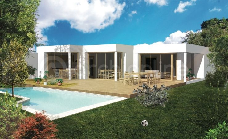 Maison Pitche - Plan de maison Moderne par Archionline HOUSE CUBE