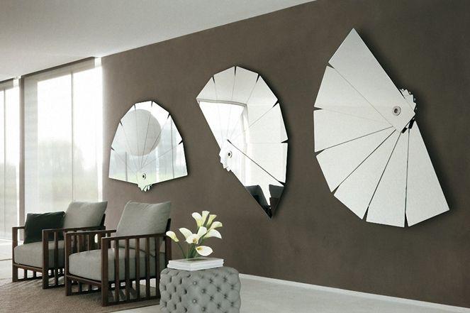 GroBartig Wandgestaltung Fächer Spiegel