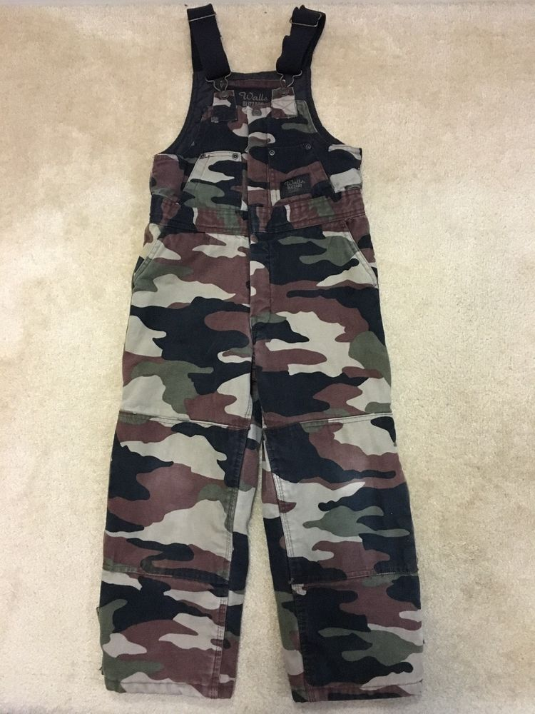 walls blizzard pruf camo bib overalls insulated child boy on walls workwear insulated coveralls id=77401