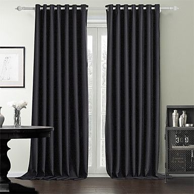 two panels curtain modern , solid bedroom polyester material, Deco ideeën