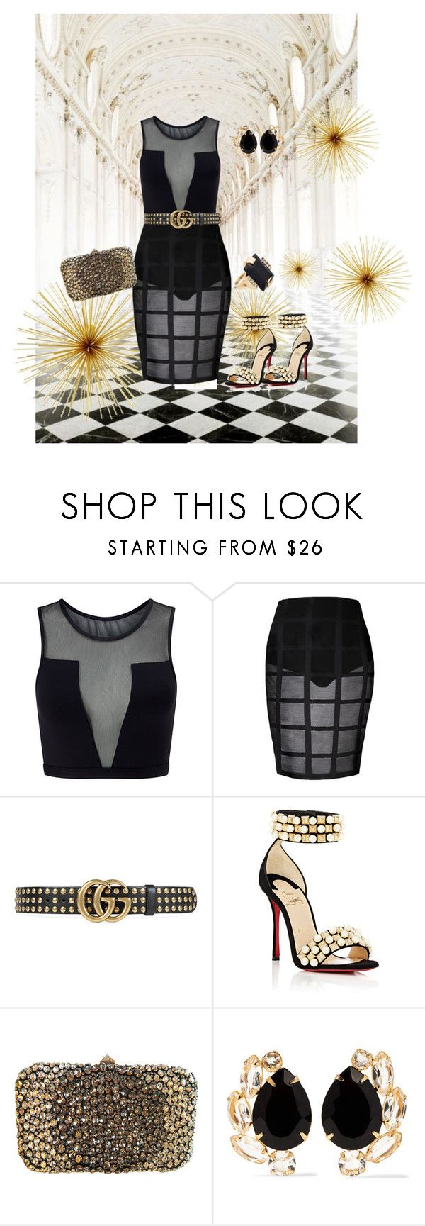 """lady louca"" by ritinha27 on Polyvore featuring Oxford, Varley, Gucci, Christian Louboutin, Valentino, Bounkit and Marni"