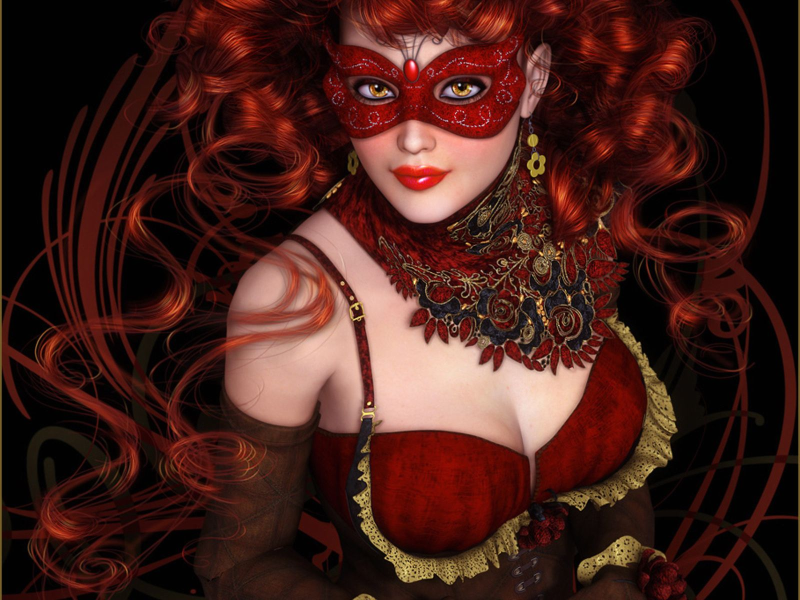 Fantasy Women in Red | Fantasy - Women Wallpaper | Everything Red ...